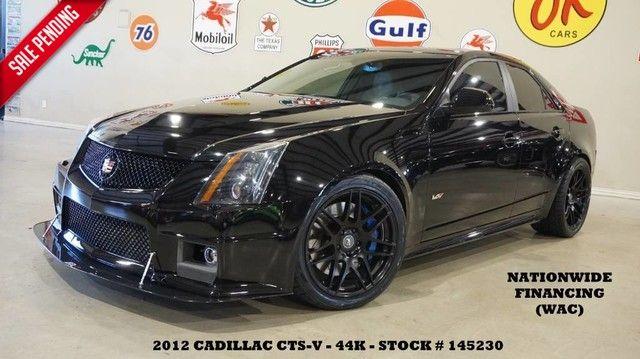 2012 Cadillac CTS-V Sedan MOTOR MODS,ULTRA ROOF,NAV,RECARO,FORGESTAR WHLS...