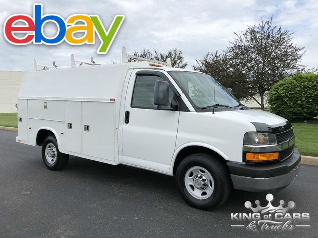 2012 Chevrolet 3500 Utility SERVICE WALK IN BOX VAN LOW MILES MINT