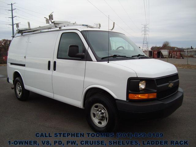 2012 Chevrolet Express Cargo Van 2500 1-OWNER, V8, PD, PW, CRUISE, SHELVES, LADDER RACK