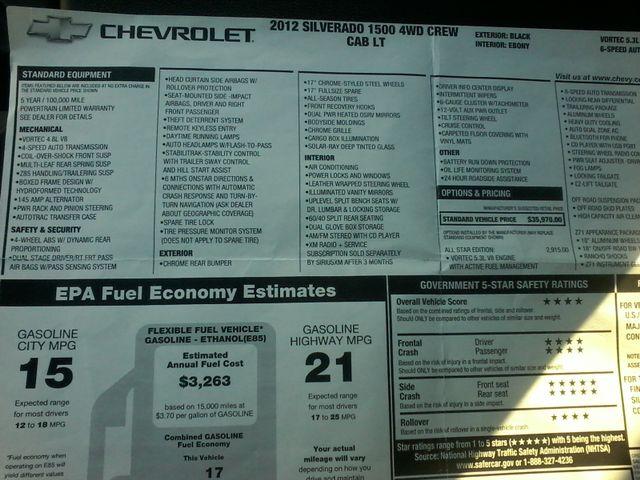 2012 Chevrolet Silverado 1500 4x4 LT 4x4 Boerne, Texas 13