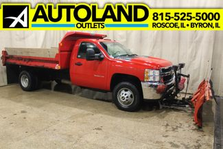 2012 Chevrolet Silverado 3500HD 4x4 Dump truck with plow WT in Roscoe, IL 61073