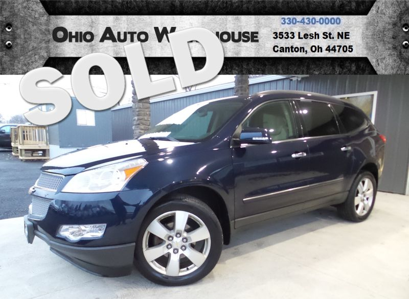2012 Chevrolet Traverse LTZ Pano Roof 3rd Row 1-Own Cln Carfax We Finance | Canton, Ohio | Ohio Auto Warehouse LLC in Canton Ohio