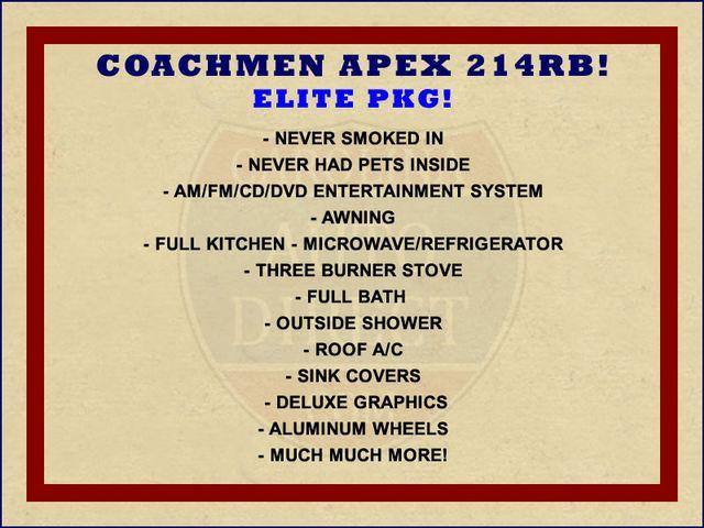 2012 Coachmen Apex 214RB W/ ELITE PKG! Mooresville , NC 1