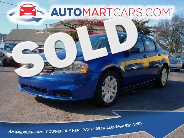 2012 Dodge Avenger SE | Nashville, Tennessee | Auto Mart Used Cars Inc. in Nashville Tennessee