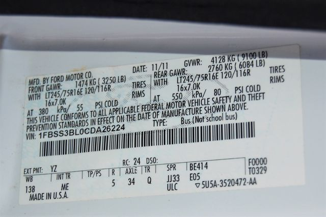 2012 Ford 15 Pass. XLT Charlotte, North Carolina 17