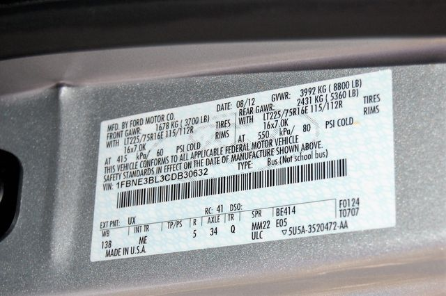 2012 Ford 8 Pass. TV / DVD Charlotte, North Carolina 20
