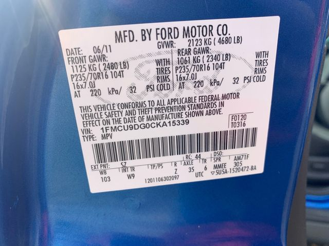 2012 Ford Escape XLT Hoosick Falls, New York 7