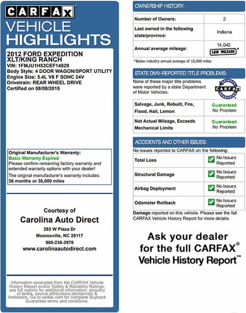 2012 Ford Expedition XLT PREMIUM EDITION RWD - DUAL DVDS - SUNROOF! Mooresville , NC 3