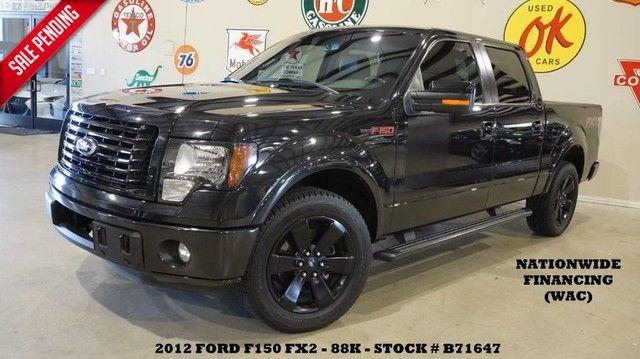 2012 Ford F-150 FX2 SPORT ECOBOOST,BACK-UP CAM,HTD/COOL LTH,BLK...
