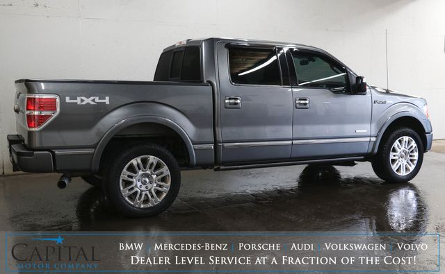 2012 Ford F-150 Platinum Crew Cab 4x4 EcoBoost w/Navigation, Heated/Cooled Seats, Moonroof and 2-Tone Interior in Eau Claire, Wisconsin 54703
