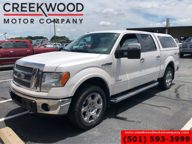 2012 Ford F-150 Lariat 4x4 White EcoBoost Leather ARE Shell CLEAN