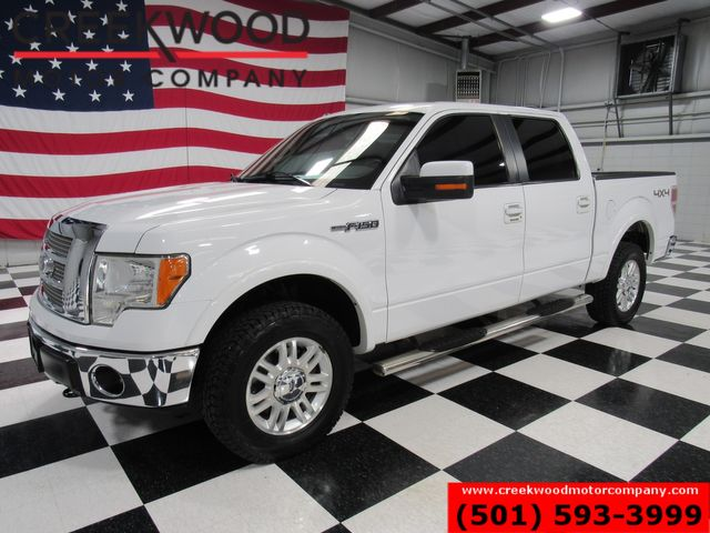 2012 Ford F-150 Lariat 4x4 White Leather Heated 5.0 V8 CLEAN