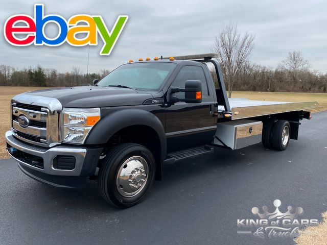 2012 Ford F-550 V10 2-Car ROLLBACK TOW TRUCK VULCAN BED LOW MILES