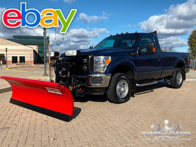 2012 Ford F250 Reg Cab 6.2L V8 4X4 1-OWNER LOW MILES WESTERN PLOW