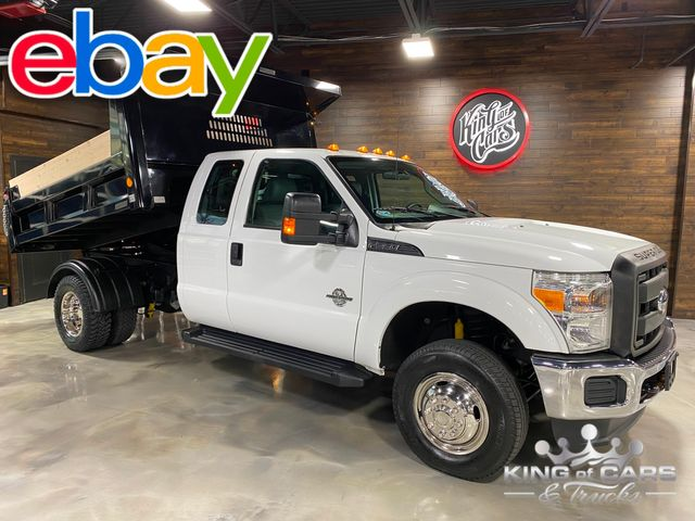 2012 Ford F350 4x4 Ext Cab 6.7L DIESEL MASON DUMP ONLY 81K MILES WOW
