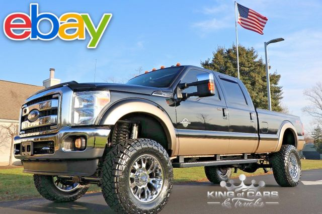 2012 Ford F350 Crew Cab LARIAT 6.7L DIESEL 46K MILES LIFTED 4X4 MINT in Woodbury New Jersey, 08096