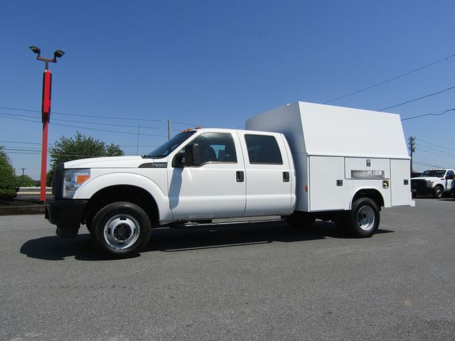2012 Ford F350 Crew Cab 4x4 with 9' Reading Enclosed Utility