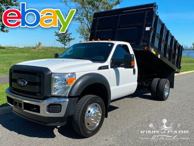 2012 Ford F450 4x4 Rcab V10 LANDSCAPE DUMP ONLY 37K MILE 1-OWNER MINT