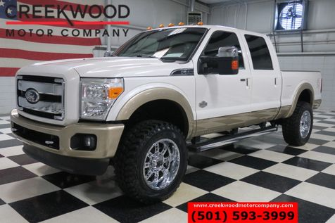 2012 Ford Super Duty F-250 King Ranch 4x4 Diesel White Chrome 20s Nav CLEAN in Searcy, AR