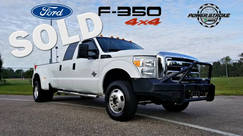 2012 Ford Super Duty F-350 DRW Pickup XL CREW CAB DUALLY DIESEL 6.7L | Palmetto, FL | EA Motorsports in Palmetto FL