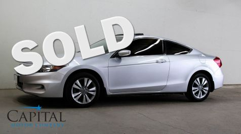 2012 Honda Accord EX Coupe with Power Moonroof, Premium Audio w/Aux/USB Inputs & Tinted Windows in Eau Claire