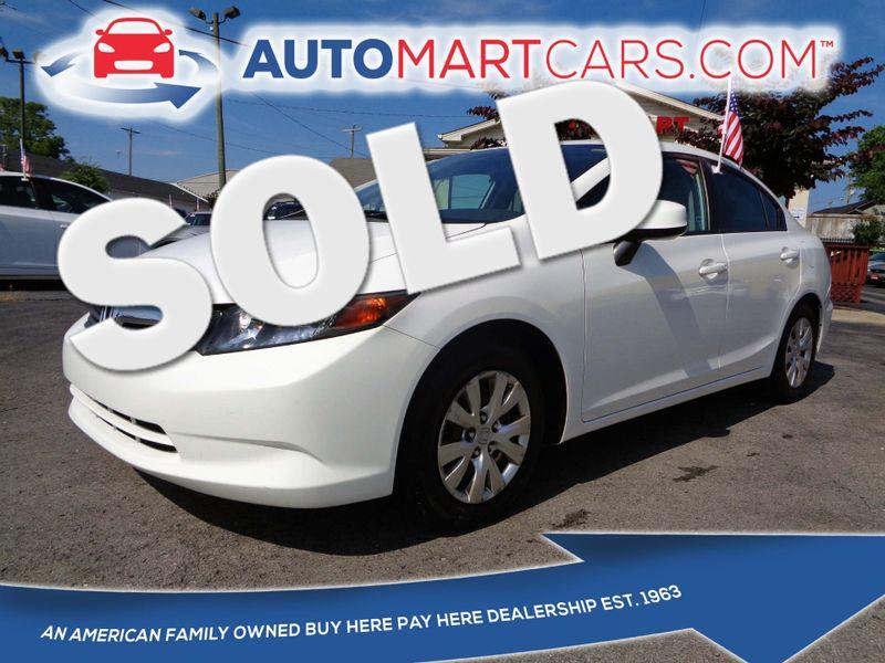 2012 Honda Civic LX | Nashville, Tennessee | Auto Mart Used Cars Inc. in Nashville Tennessee