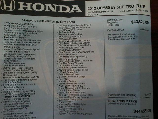 2012 Honda Odyssey Touring Boerne, Texas 38