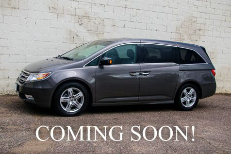 2012 Honda Odyssey Touring Elite Van w/Ultra-Wide Screen DVD Entertainment, Navigation, Heated Seats & Tow Pkg in Eau Claire