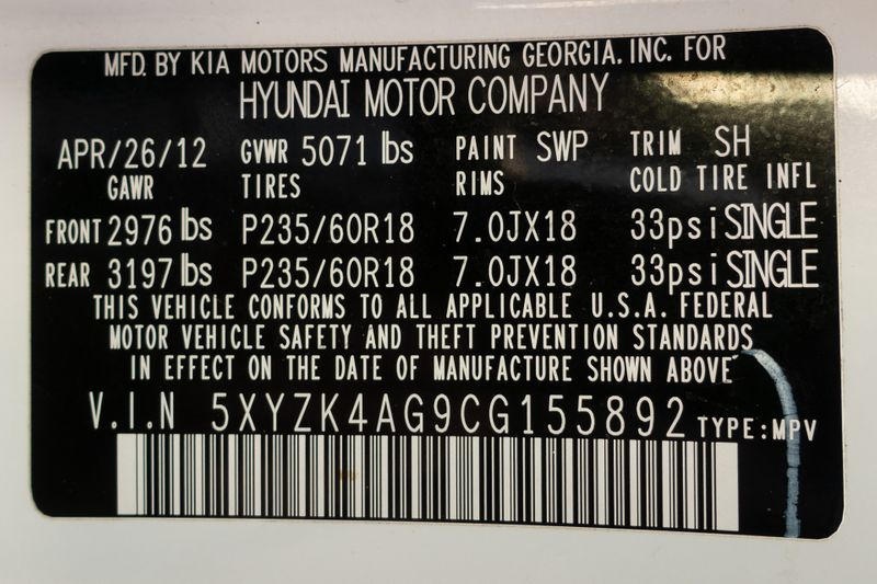 2012 Hyundai Santa Fe Limited   Texas  EURO 2 MOTORS  in , Texas
