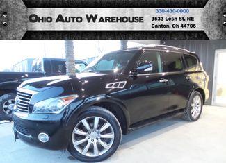 2012 Infiniti QX56 4x4 Navigation Tv/DVD Sunroof 3rd Row We Finance | Canton, Ohio | Ohio Auto Warehouse LLC in Canton Ohio