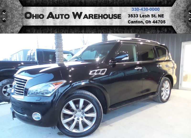 2012 Infiniti QX56 4x4 Navigation Tv/DVD Sunroof 3rd Row We Finance | Canton, Ohio | Ohio Auto Warehouse LLC in Canton Ohio