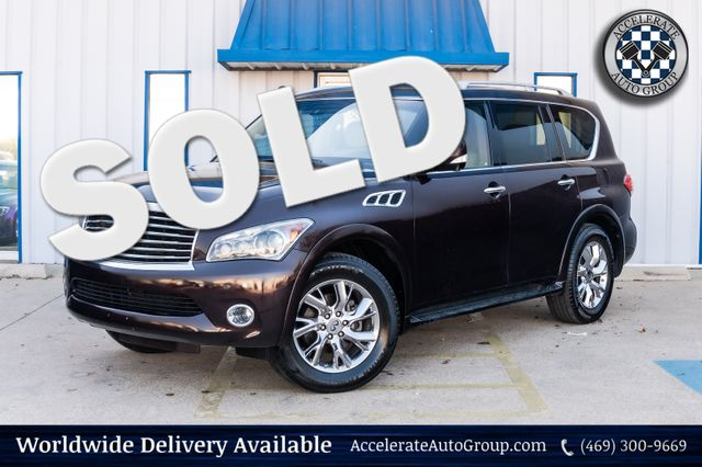 2012 Infiniti QX56 8 PASSENGER LOADED NAV BLUETOOTH GREAT SHAPE! in Rowlett