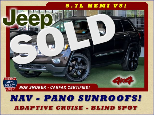 2012 Jeep Grand Cherokee Overland Summit 4x4 - 5.7L HEMI - NAV - SUNROOFS! Mooresville , NC 0