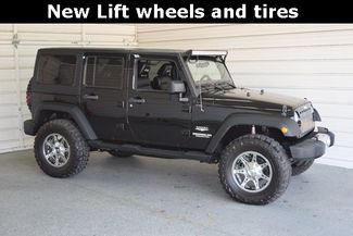 2012 Jeep Wrangler Unlimited Sahara New Lift wheels and tires in McKinney Texas, 75070