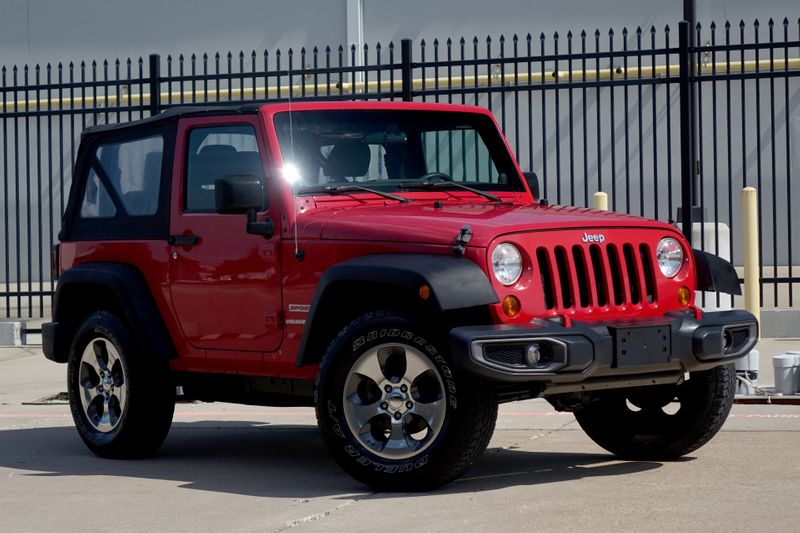 2012 Jeep Wrangler Sport*Manual*Soft Top*Only 88k mi* | Plano, TX | Carrick's Autos in Plano TX