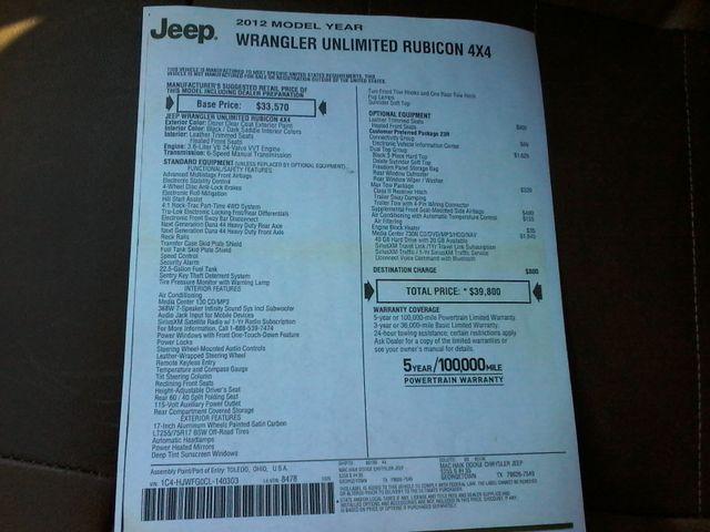 2012 Jeep Wrangler Unlimited Rubicon Boerne, Texas 28