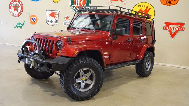 2012 Jeep Wrangler Unlimited Sahara 4x4 LIFTED,HTD LTH,CARGO RACK,33K