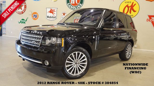 2012 Land Rover Range Rover SC ROOF,NAV,360 CAM,REAR DVD,HTD/COOL LTH,48K