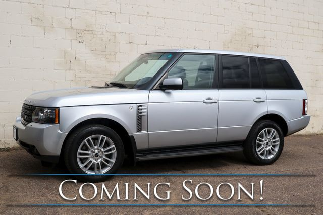 2012 Land Rover Range Rover HSE 4x4 Luxury SUV with 5.0L V8, Touchscreen Nav, Heated Seats, Moonroof & Tow Pkg
