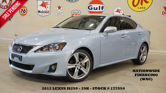 2012 Lexus IS 250 SUNROOF,HTD/COOL LTH,6 DISK CD,18IN WHLS,29K
