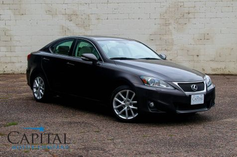 2012 Lexus IS350 AWD Sport Sedan w/Navigation, Heated/Cooled Seats, Moonroof, Keyless Start & Luxury Value Pkg in Eau Claire