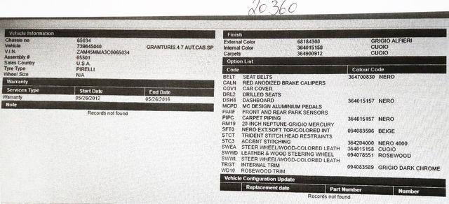 2012 Maserati GranTurismo  Convertible  in Alexandria VA