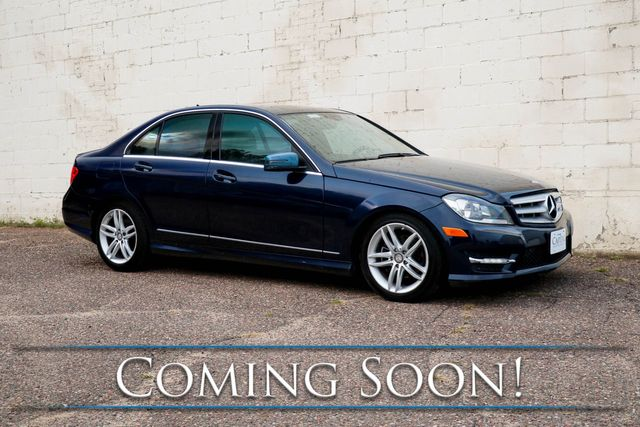 2012 Mercedes-Benz C300 Sport 4MATIC AWD Luxury Car with Nav, Backup Cam, Moonroof, Heated Seats & Premium Audio