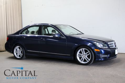 2012 Mercedes-Benz C300 Sport 4Matic AWD Luxury Car w/Navigation, Backup Cam, Heated Seats, Moonroof and Bluetooth in Eau Claire