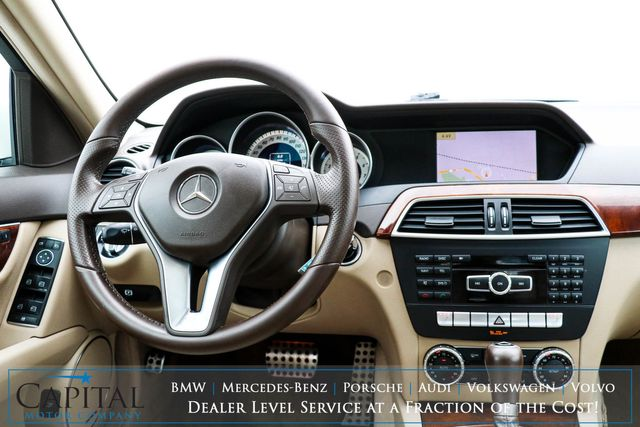 2012 Mercedes-Benz C300 Sport 4MATIC AWD Luxury Car with Nav, Backup Cam, Heated Seats & Bluetooth Audio in Eau Claire, Wisconsin 54703