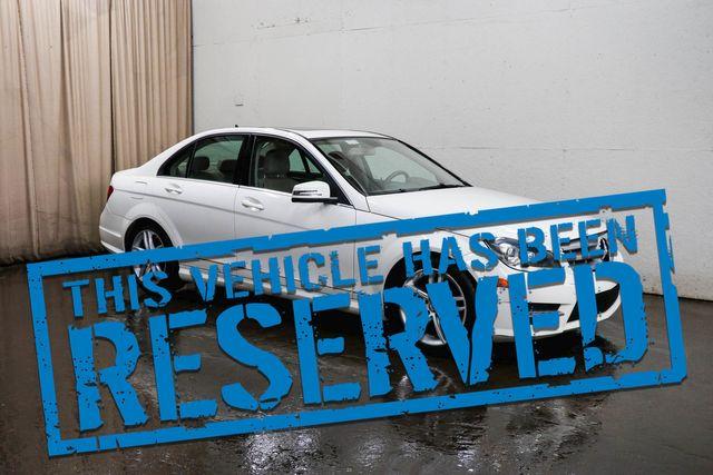 2012 Mercedes-Benz C300 Sport 4MATIC AWD Luxury Car with Nav, Backup Cam, Heated Seats & Bluetooth Audio
