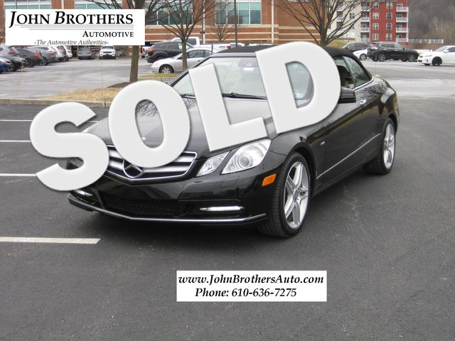 2012 Mercedes-Benz E 350 Convertible Conshohocken, Pennsylvania