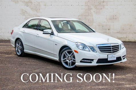 2012 Mercedes-Benz E350 Sport 4Matic AWD w/Navigation, Backup Cam, Moonroof, Heated Seats & 18