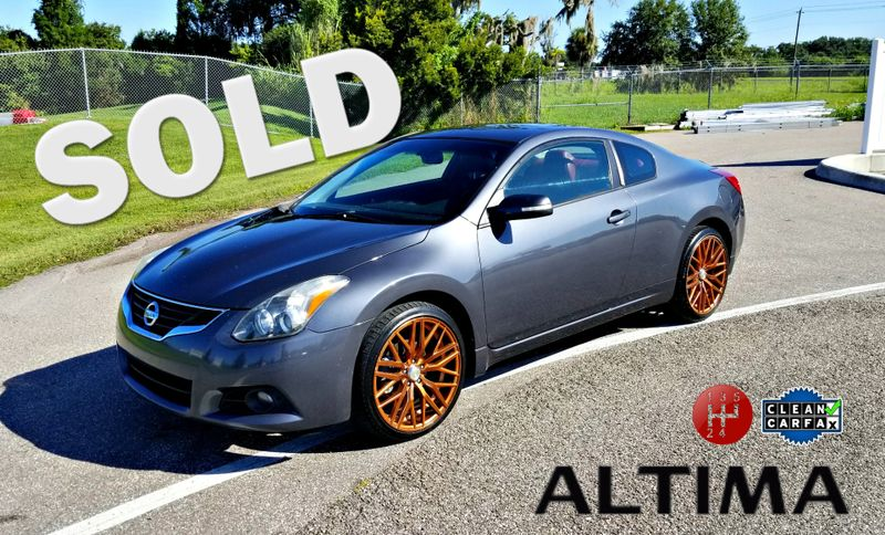 2012 Nissan Altima 3.5 SR MANUAL CLEAN CARFAX RIMS RED LEATHER | Palmetto, FL | EA Motorsports in Palmetto FL