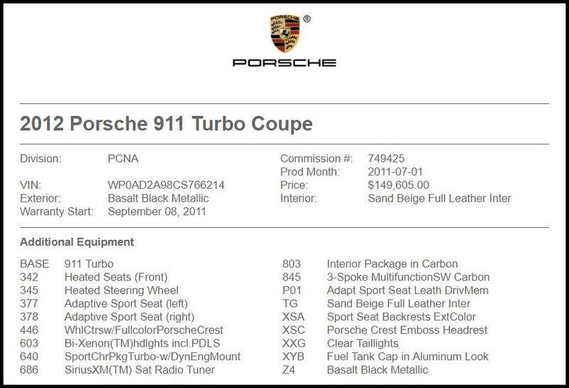 2012 Porsche 911 Turbo in Carrollton, TX